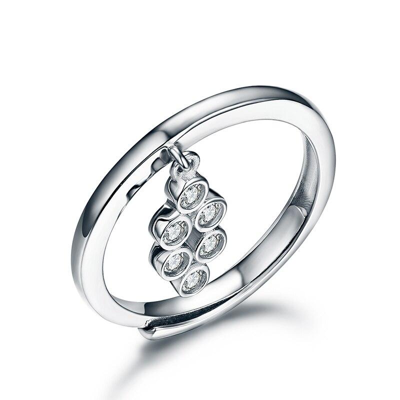 Стерлингового серебра--ювелирные изделия Solid 925 серебро Обручальные кольца для Для женщин diamond Обручальные кольца Ювелирные украшения кольц... ...