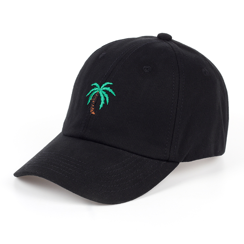 TUNICA Autumn female coconut tree embroidery   cap   adjustable   baseball     cap   fashion neutral cotton adult sun hat outdoor sports hat