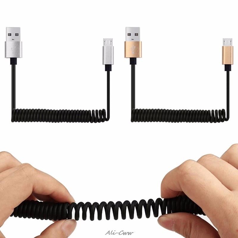 Unterhaltungselektronik Hilfreich 1 M Micro Usb Ladegerät Frühling Spiral Coiled Kabel Daten Sync Für Samsung S6 S7 Lg Strukturelle Behinderungen Datenkabel