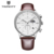 Twincity cronógrafo hombres del deporte reloj militar calendario cuero genuino relojes de cuarzo para hombre reloj de pulsera de moda de seis pines relojes