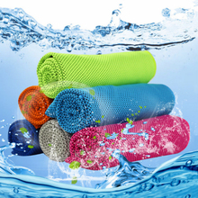 10 Colors 80*30cm microfiber sports Instant Cooling towel gym Face swimming Towel fitness ice Cool yoga