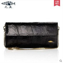 yuanyu real Snake skin women bag new  decorative pattern women chain bag fashion inclined single shoulder women bag