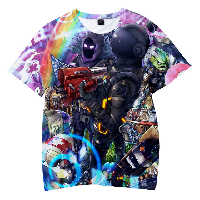 Boys Tops Summer 2018 nice Children T shirts Boys Clothes Kids Tee Shirt Fille 3D game Character Prints Baby Boy Clothing 3