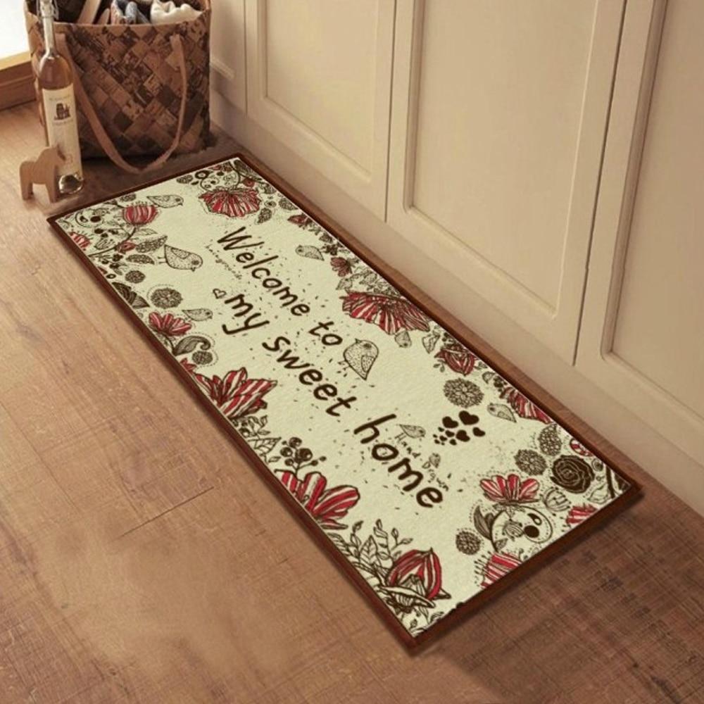 ikea kitchen rug hotels with in miami yazi bird flower welcome doormat bath anti slip ...