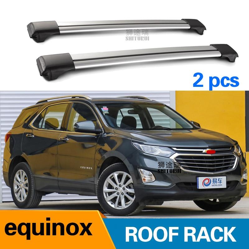 2Pcs Roof Bars For CHEVROLET Equinox 2017-2018 Aluminum Alloy Side Bars Cross Rails Roof Rack Luggage Load 100KG SUV