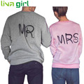 Sweatshirt Hoodies New Fashion 2017 Letter Print MR and MRS Lovers Couples Sweatshirts For Autumn Men And Women Tracksuits Oct7