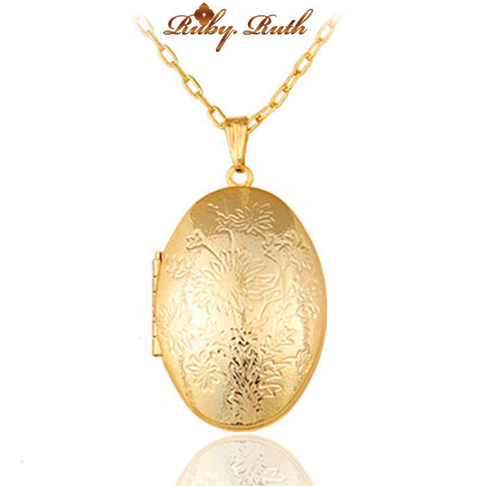 necklace gold color egg shaped locket photos pendant summer necklace gold color egg shaped locket photos pendant summer memory birthday gifts fashion pendants for making box fine jewelry aloadofball Image collections