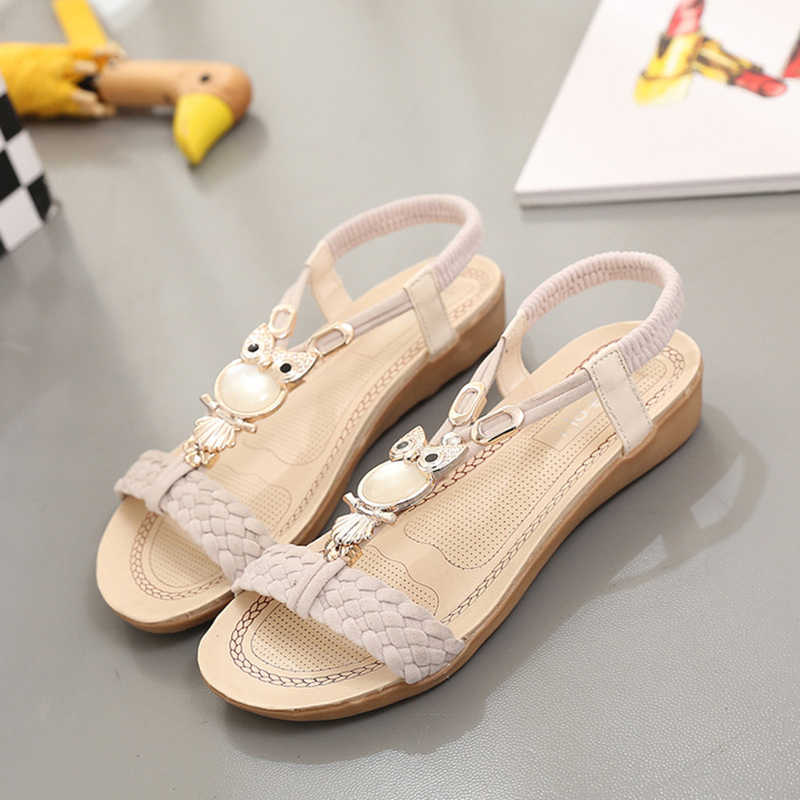 2f54e80d8 ... New Women Sandals Summer Fashion Flip Flops Female Sandals Flat Shoes  Bohemia Casual Ladies Beach SandalsWomen ...