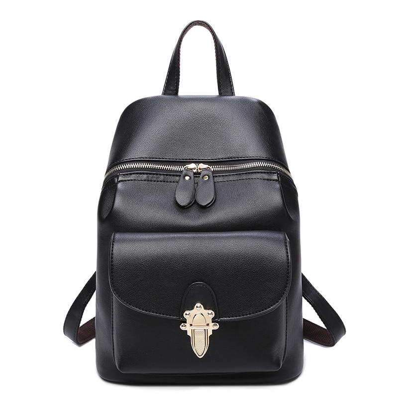 2017 NEW Women s Leather Backpack Rivet Girls Bag Mini Travel Backpack leisure Student bag Travel