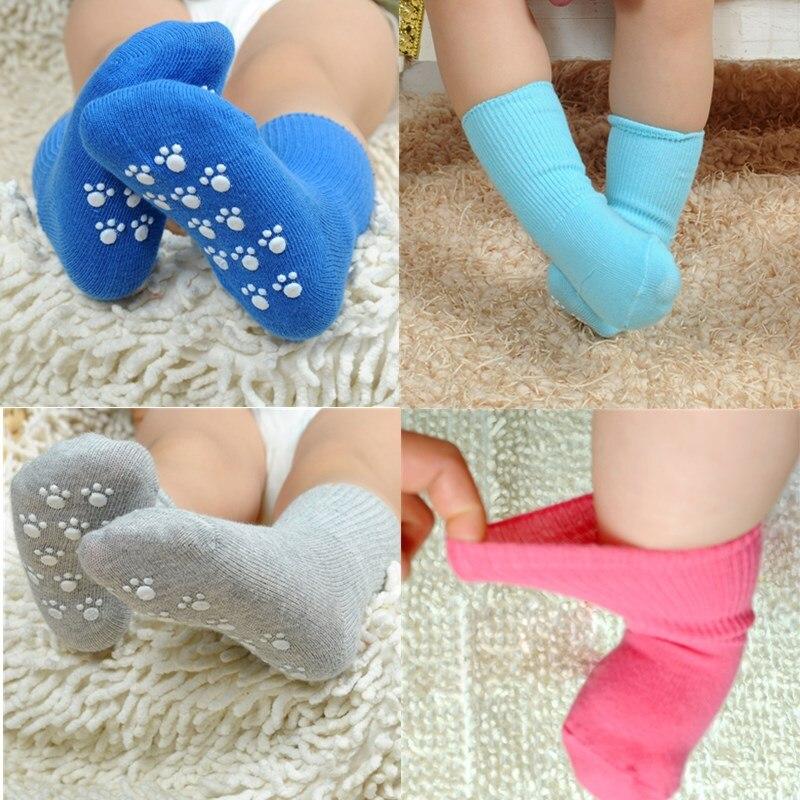 1 пара Противоскользящих высоких носков для маленьких мальчиков и девочек