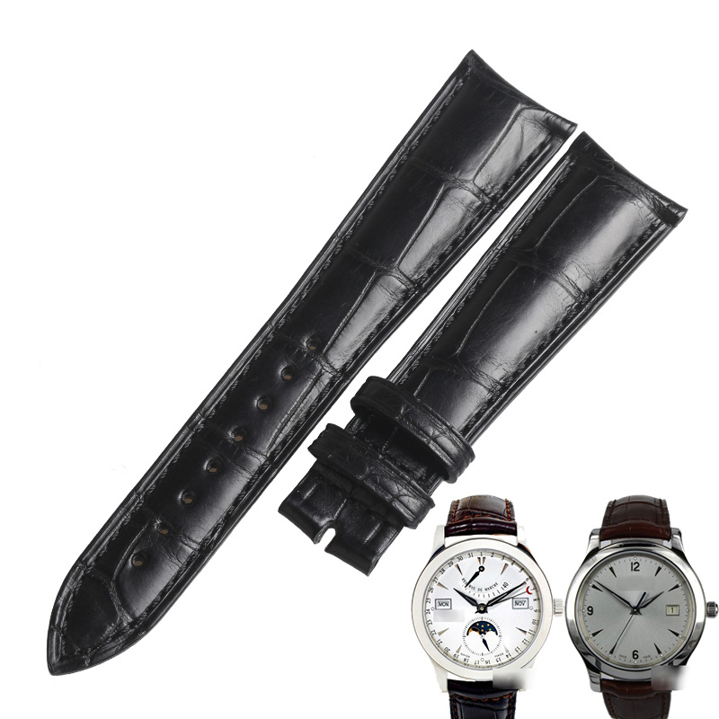 WENTULA watchbands for Jaeger-LeCoultre MASTER ULTRA THIN 1368420 1548420 1362520 alligator skin /crocodile grain man watch band
