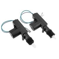 2x 360 Degree Rotation Car Auto Remote Central Lock Alarm Security Kit 2 Door Bracket Locking