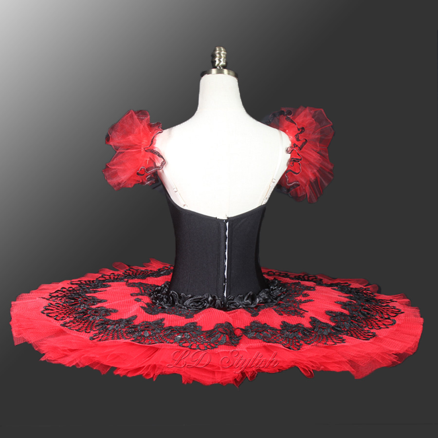 Don Quixote Professional Tutus Red Black Pancake Ballet Costumes Performance Classical Ballet Tutu Nutcracker Tutu Red LD0026 in Ballet from Novelty Special Use