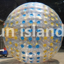 Free Shipping TPU Rolling Ball On Grass Inflatable Bumper Ball/ 2.5m Size Zorb Ball, Inflatable Human Hamster Balls