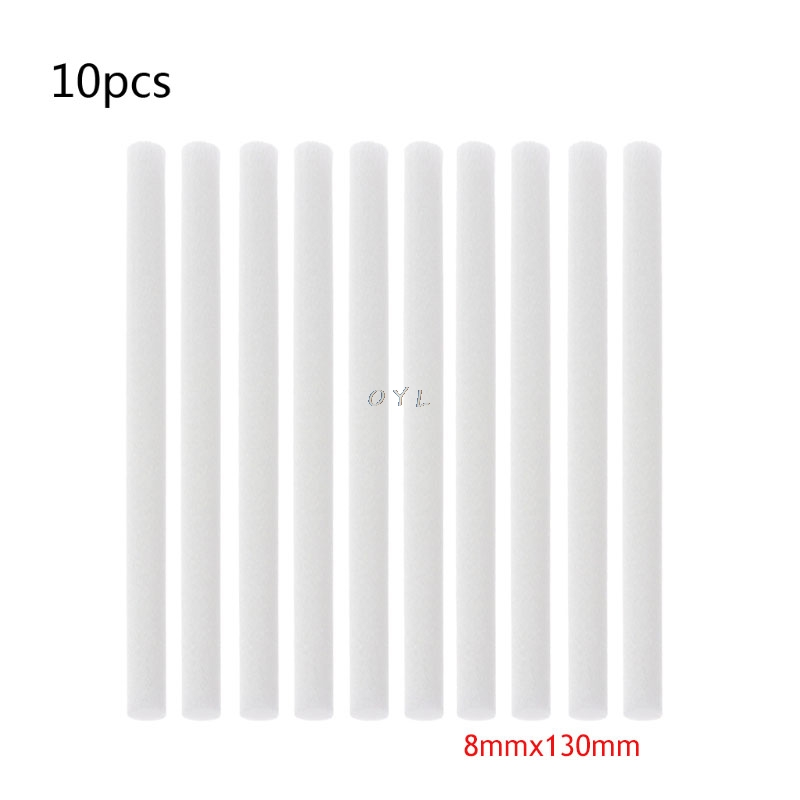 10Pcs Humidifiers Filters Cotton Swab Replacement For USB Humidifier Accessories Aroma Diffuser Cotton Sticks 8mmx130mm