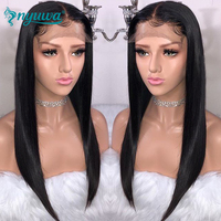 Straight Full Lace Human Hair Wigs With Baby Hair Pre Plucked Glueless Remy Hair Full Lace Wigs For Women Brazialian NYUWA Hair