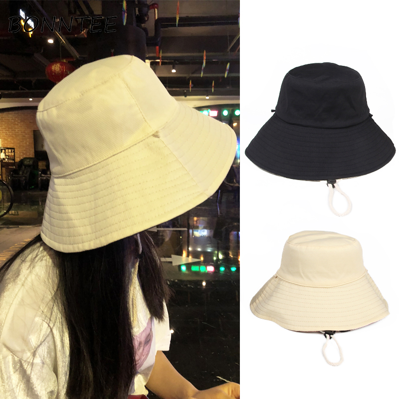 Hats Korean Solid Two Sides Women Sun Protection All-match Summer Sun Hat Womens Trendy Comfortable Casual Simple Fashion Daily