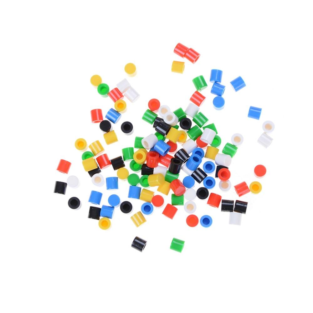 ZLinKJ 20pcs/lot Random Color Plastic Tactile Button Caps Hat For 6*6mm Tactile Push Button Switch Lid Cover