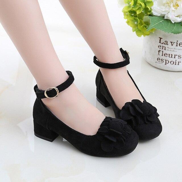Kids High Heeled Girls Princess Shoes