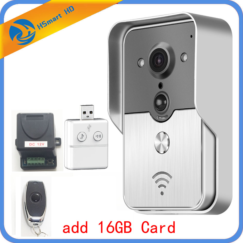 HD Camera Wifi Video Door Phone Doorbell Wireless Intercom Support SD Card for Android IOS Smartphone Remote View UnlockHD Camera Wifi Video Door Phone Doorbell Wireless Intercom Support SD Card for Android IOS Smartphone Remote View Unlock