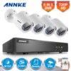 ANNKE 4CH HD 720P TVI 1080N DVR 4pcs 1500TVL Outdoor IR Day Night Security Camera Surveillance