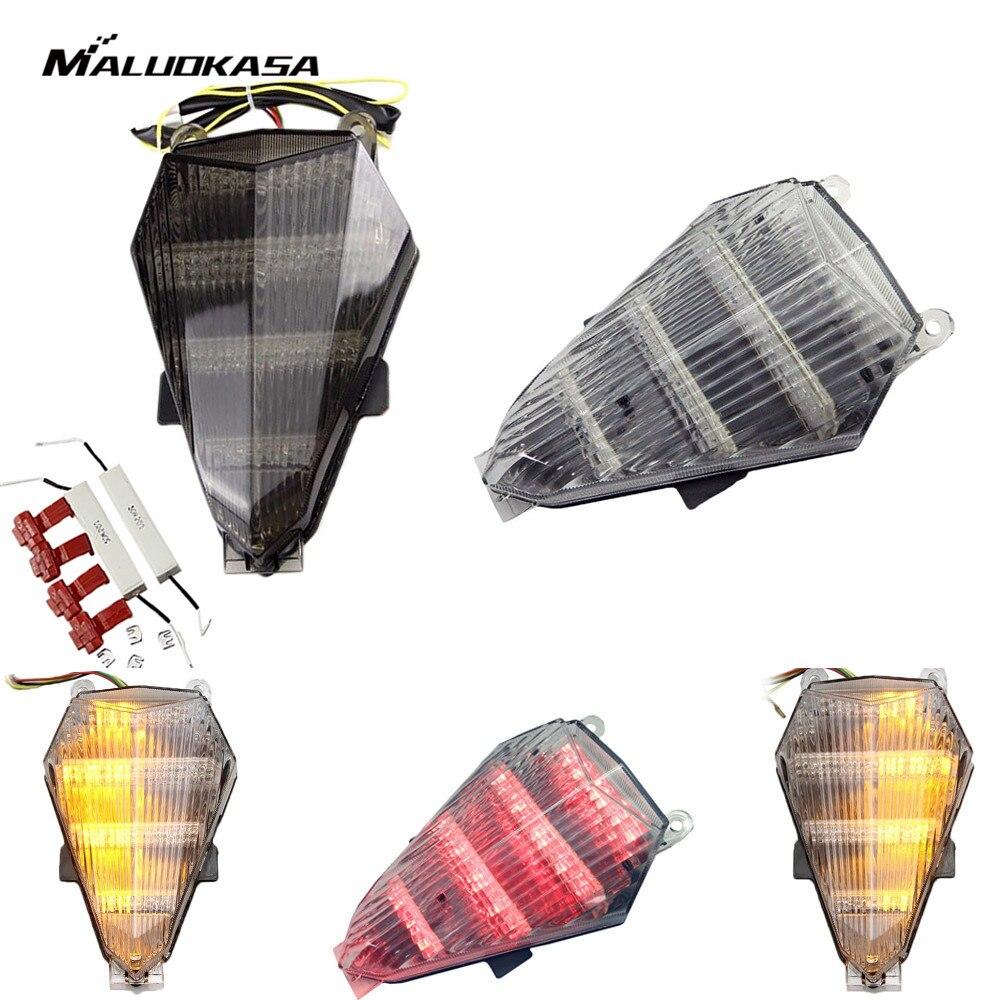 Prix pour MALUOKASA Moto Feu arrière Intégré Clignotants Lampe De Frein Pour Yamaha YZF R6 2006 2007 2008 2009 2010 2011 2012 2013