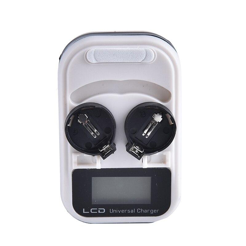 Cellulaire 2-Slot LIR2032 LIR2025 LIR2016 3.6 v Rechargeable Au Lithium Bouton Pile Bouton Batterie Chargeur LCD Indicateur intelligente NOUS plug