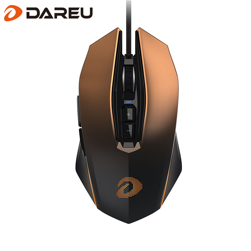 Dareu EM925 Pro Gaming Mouse 10800 DPI Adjustable Computer Optical LED Game Mice Wired USB Game Cable LOL for Professional Gamer