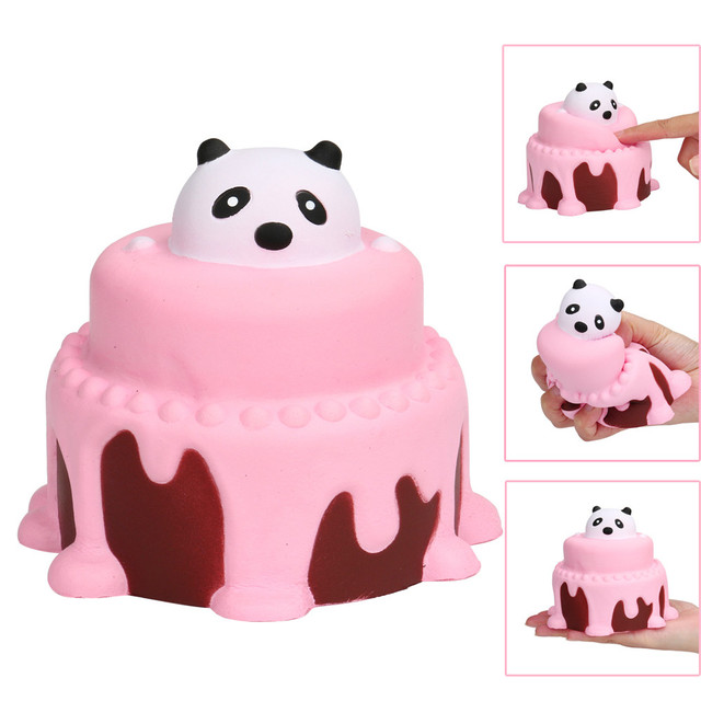 Besegad Soft Cheap Squishy Kawaii Birthday Cream Cake Strawberry