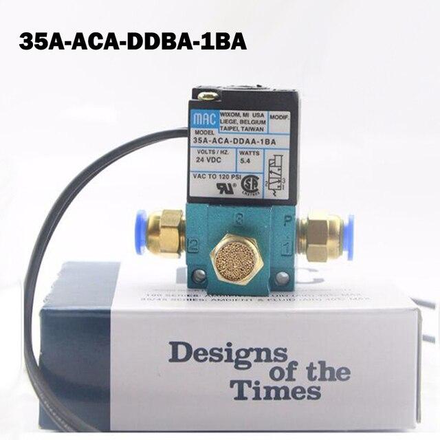 "1/8"" DC12V 5.4W Mac 35A Type High Frequency Solenoid Valve 35A ACA DDBA 1BA for Dispenser Marking Dispensing Machine"