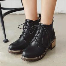 Новые Модные Ботинки martin для осени и зимы античные черные