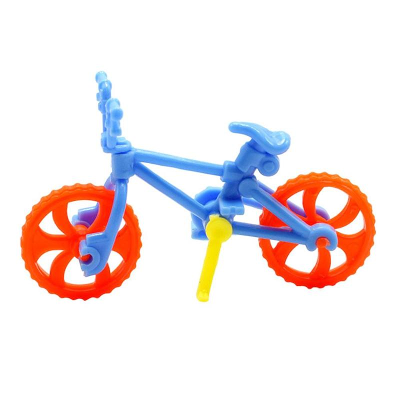 1PC DIY Assembled Bicycle Toys Mini Bike Toys for Kids Children Education Learning Handwork Tools Bicycle Model Toy Random Color night light nine planets model puzzle assembled children science education toy