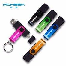 Moweek Многофункциональный USB флэш-накопитель 128 Гб 64 Гб cle usb флеш-накопитель 32 Гб оперативной памяти, 16 Гб встроенной памяти, usb-накопитель, карта памяти, 8 ГБ 4 ГБ USB 2,0 флеш-накопитель для android