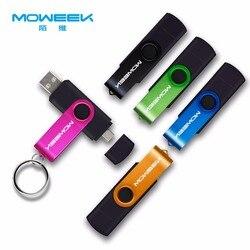Moweek Multifuncional USB Flash Drive 128 gb gb cle usb stick 32 64 gb gb 4 8 16 gb pendrive 2.0 gb usb Pen Drive para android