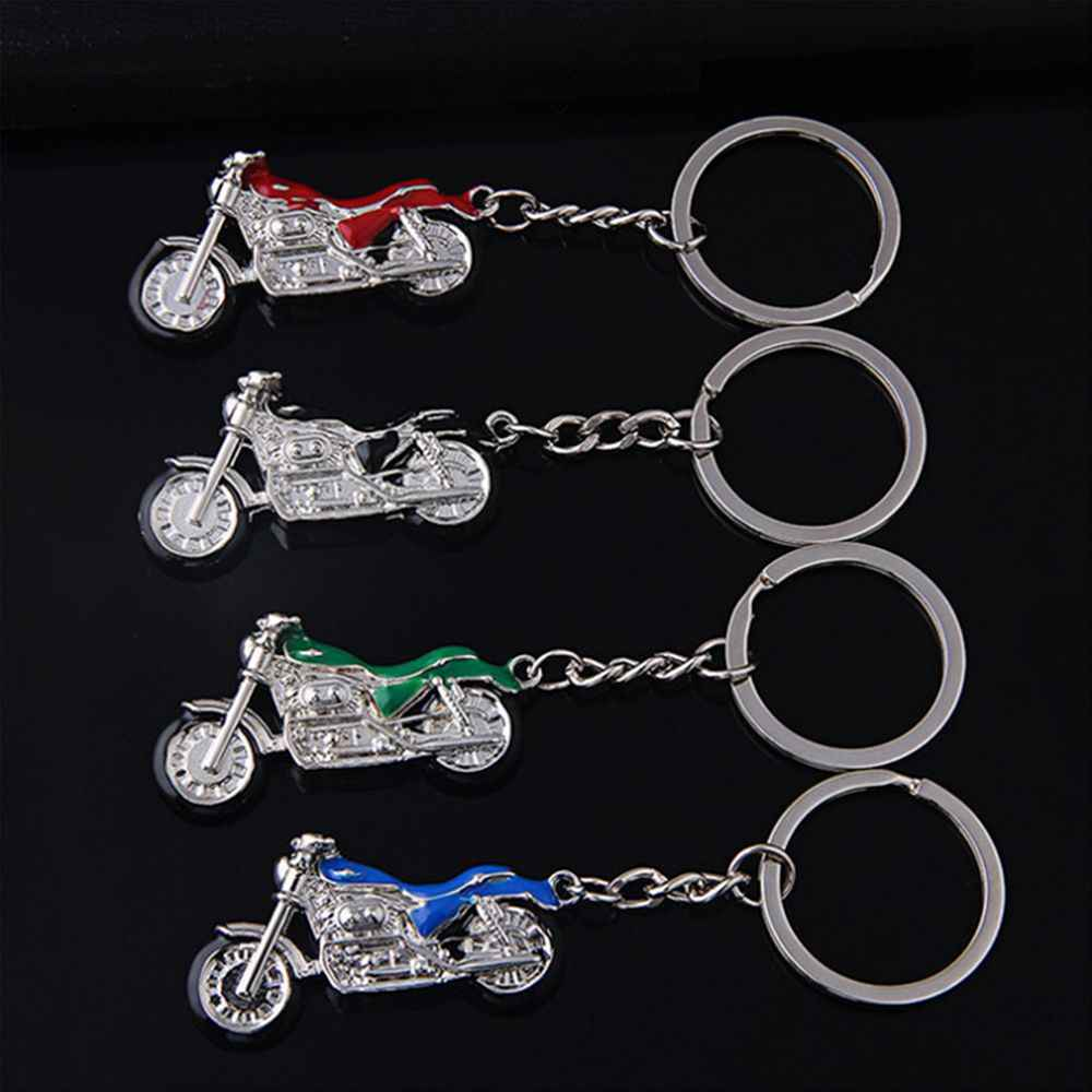 New Motorcycle Key Chain Charm Metal Keychain Men Women Car Key Ring 4 Color Key holder Best Gift Keychain Jewelry Accessories