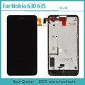 100% новый Проверено черный для Nokia Lumia 630 635 N630 ЖК-дисплей с сенсорный дигитайзер + рама + Бесплатные инструменты сборки