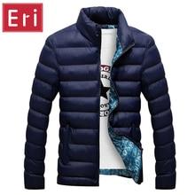 2017 marke Jacke Männer Warmen Mantel Schwarz Outwear Chaquetas Plumas Hombre Winter Herren Mäntel Jacken Stehkragen Schlank Kleidung X323