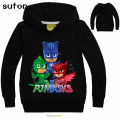 New Spring&Autumn Letter Printing PJMASKS Baby Boys Fashion Hoodies Long SleeveT-shirts Children Coats Girls Cartoon Cute Tops