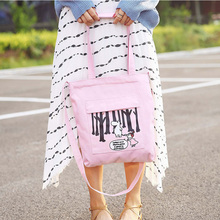 Handbag New Canvas Womens Single Shoulder Bag Korean Simple Colour-matching Student School