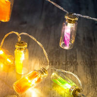 Novelty Christmas Lights 20 Glass Jar LED String Lights Battery Operated For Wedding Party Fairy Lights