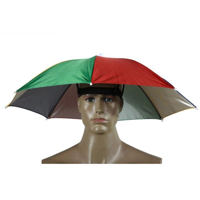 Portable Sun Shade Umbrella Hat Cap Folding Women Men Umbrella Outdoor Fishing Hiking camping Parasol Foldable Brolly Cap