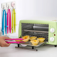 1PC Best Silicone Cooking Kitchen Tongs Food BBQ Salad Bacon Steak Bread Clip Clamp -25