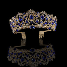 2019 Charmelry Green Red Crystal Tiaras Vintage Silver Rhinestone Pageant Crowns With Comb Baroque Wedding Hair Accessories