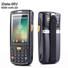 SM-iData95V 6000 mAh Capacity Battery Android Barcode Scanner with 1D, 2D Laser Handheld Terminal PDA