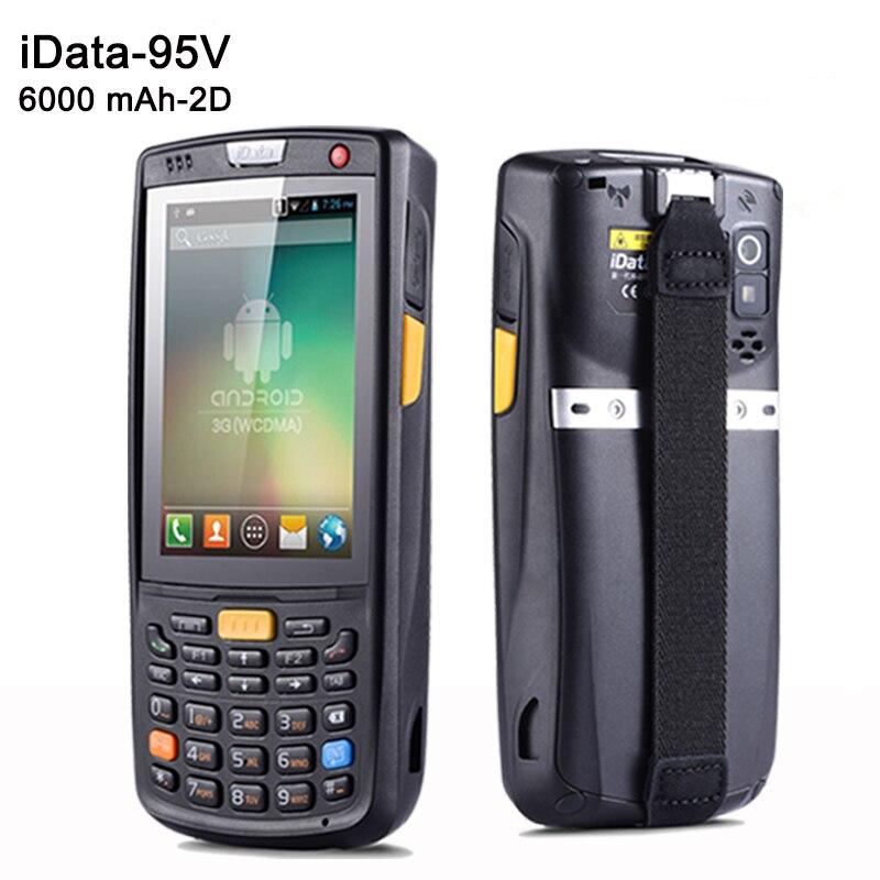 SM iData95V escáner de código de barras Android con batería de 6000 mAh de capacidad con Terminal PDA de mano láser 1D y 2D