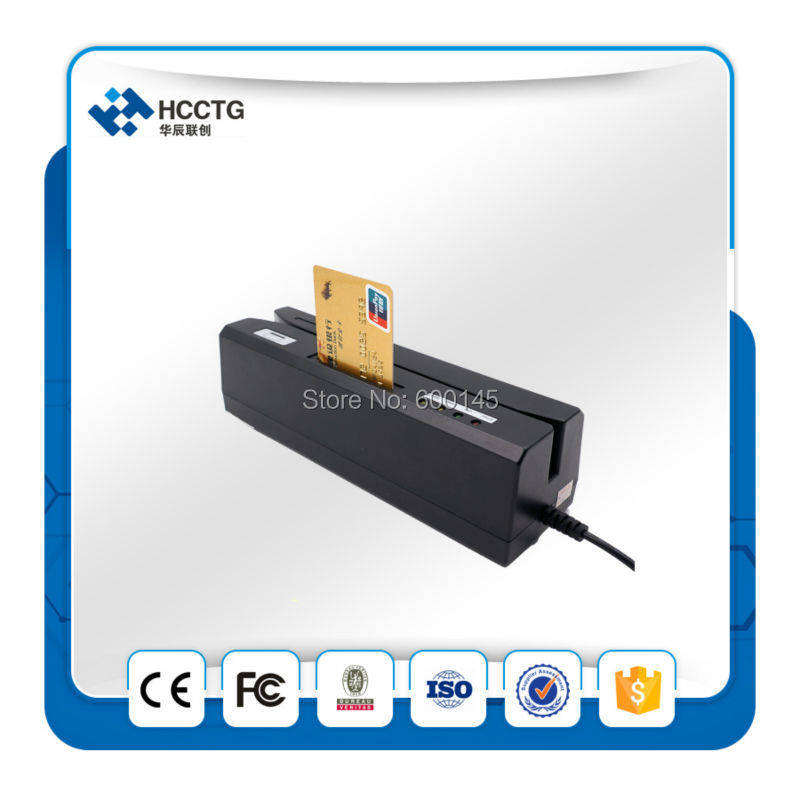 USB Interface Credit + NFC Card Reader Skimmer Magnetic Stripe Card Reader  Writer HCC80 with SDK