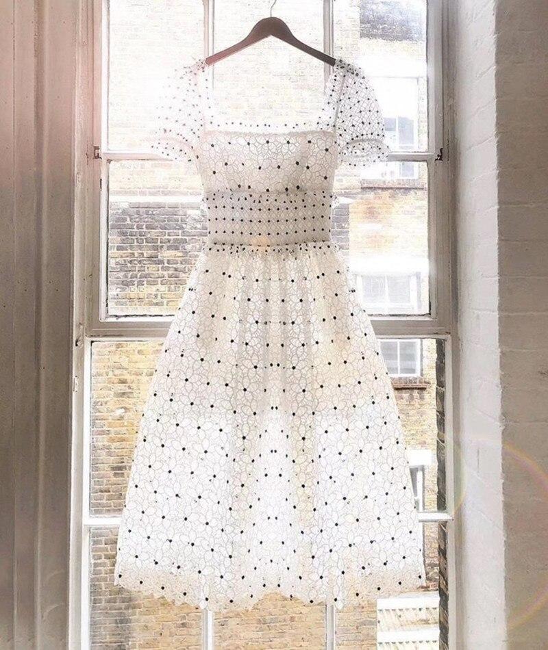 2019 nouvelle arrivée robe de fleur en dentelle blanche