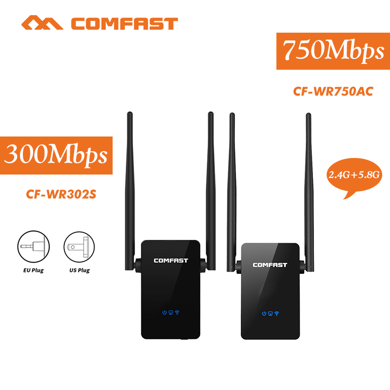 COMFAST 300mbps~750mbps Wifi Router English Firmware Wifi Repeater Wireless Router Wifi Repeater 802.11n B G Ac 2.4ghz+5.8ghz