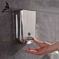 Hight Quality Hot Sale 500ml Wall Mounted Bathroom Shower Body Lotion Shampoo Liquid Soap Dispenser Newest