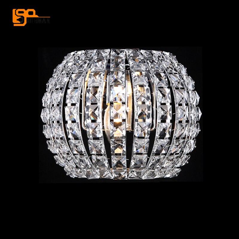 Бесплатная доставка Новый современный Кристалл Бра Dia27 * H20cm Кристалл Бра спальня свет ...